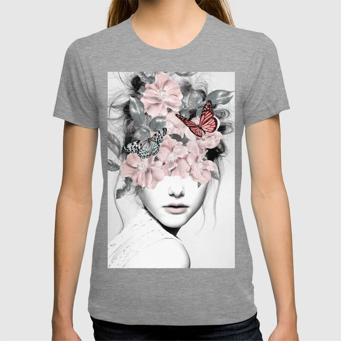 WOMAN WITH FLOWERS 10 T-Shirt