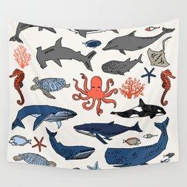 Ocean Animals  Wall Tapestry
