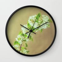 blossom Wall Clocks featuring Blossom by Jessica Torres Photography