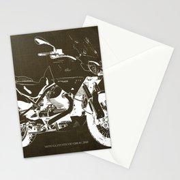 2010 Moto Guzzi Stelvio 1200 4V brown blueprint Stationery Cards
