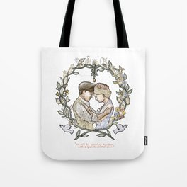 """Illustration from the video of the song by Wilder Adkins, """"When I'm Married"""" (no names on it) Tote Bag"""