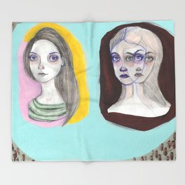 The Triplets Throw Blanket