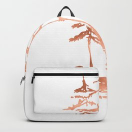 Three Sisters Trees Rose Gold on White Backpack