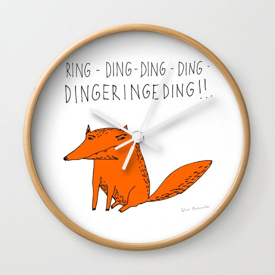 What does the fox say??? Wall Clock