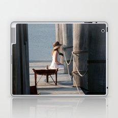 Girl on the Pier Laptop & iPad Skin