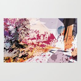 7: a vibrant abstract in jewel tones Rug