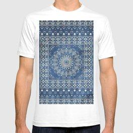 Old Bookshop Magic Mandala in Blue T-shirt