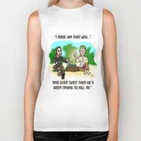 lost in translation Biker Tanks featuring LOST in Translation...  The game that goes on FOREVER! by beetoons
