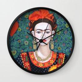 Frida, queen of Hearts Wall Clock