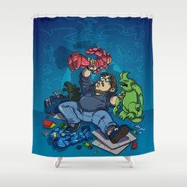 Boys and Their Toys Shower Curtain