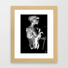 Goddess water fountain Framed Art Print