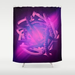"[Day 919] ""GLOWPUNCH"" Shower Curtain"
