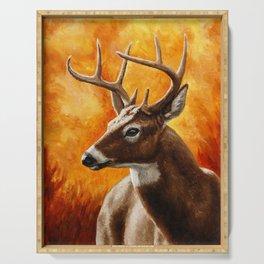 Whitetail Deer Buck Serving Tray