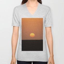 Sunrise Sunset Desert Landscape Unisex V-Neck