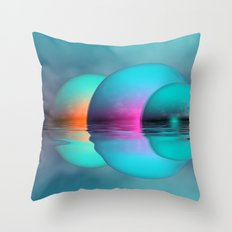 sundown in nowhere-land Throw Pillow