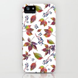 Autumn Grapes iPhone Case