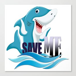 save our sharks Canvas Print