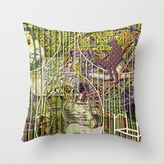The Industrial Inevitability of Circular Crust (2) Throw Pillow