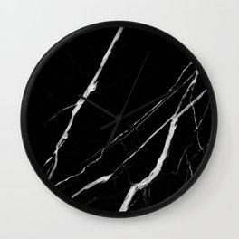 Black Marble No.1 Wall Clock