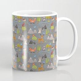 Forest Cute Animals and Birds Pattern Coffee Mug
