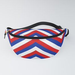 Red White and Blue French Flag Jumbo Chevron Pattern Fanny Pack