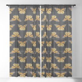Monarch Butterfly Love Sheer Curtain