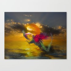 Let the child you once were be the wings you take on tour Canvas Print