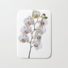 Orchids in High Key Bath Mat