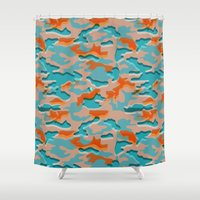 military Shower Curtains featuring Autumn military by Pimpa Gerroc