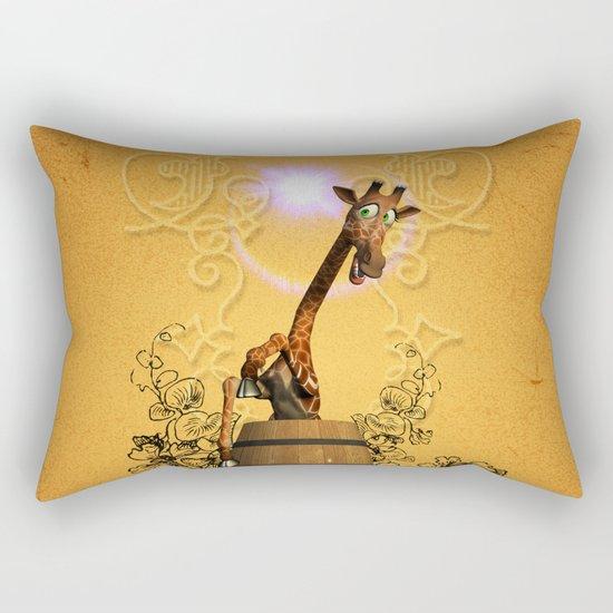 Funny, sweet giraffe Rectangular Pillow