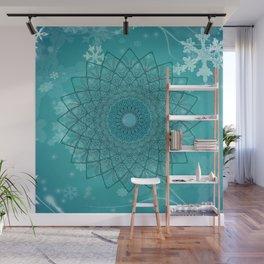 Ice Mandala Wall Mural