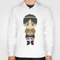 shingeki no kyojin Hoodies featuring Shingeki no Kyojin - Chibi Eren Flats by Tenki Incorporated