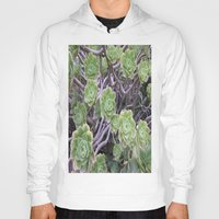 succulents Hoodies featuring Succulents by AM Prono