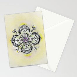 Painted mandala Stationery Cards