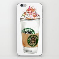 starbucks iPhone & iPod Skins featuring Starbucks by Vicky Ink.
