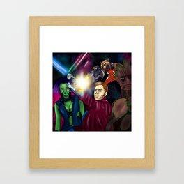 Guarding the Galaxy Framed Art Print