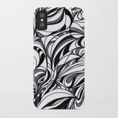 black and grey iPhone X Slim Case