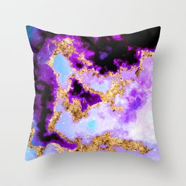 100 Starry Nebulas in Space 029 (Portrait) Throw Pillow