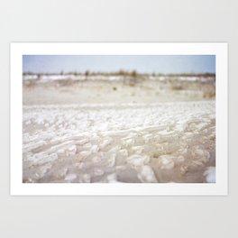 SAND ON SNOW ON SAND Art Print
