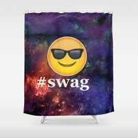 swag Shower Curtains featuring #Swag by pbstudios