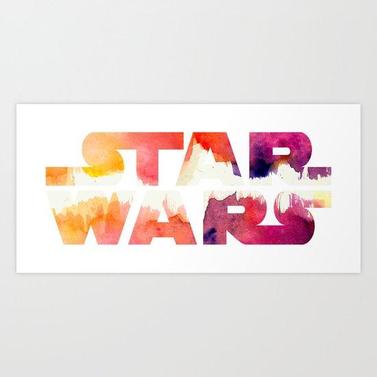 Star Wars Watercolor Gap Art Print