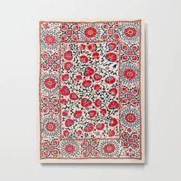 Shakhrisyabz Suzani Uzbekistan Embroidery Print Metal Print