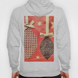 Coral Colored Hanging Christmas Ornaments Hoody