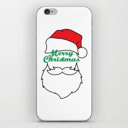 Hilarious & Joyful Xmas Tshirt Design Merry Christmas Everyone iPhone Skin