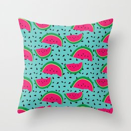 WataMelon Throw Pillow