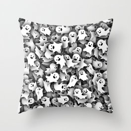 Little ghosts Throw Pillow