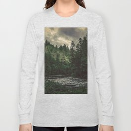 Pacific Northwest River - Nature Photography Long Sleeve T-shirt