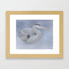 Blue Heron Art - Creativity Framed Art Print