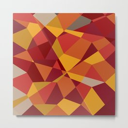 Carnelian Red Abstract Low Polygon Background Metal Print