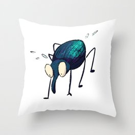 Distraught Beetle 2 Throw Pillow